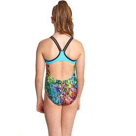 Zoggs Zany Skin Duoback Swimsuit Girls multi